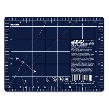 6 inch X 8 inch Cutting Mat in Navy from Olfa