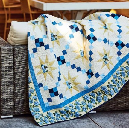 Star Bright Quilt Kit in Hydrangea Blue featured in Fons & Porter's Love of Quilting