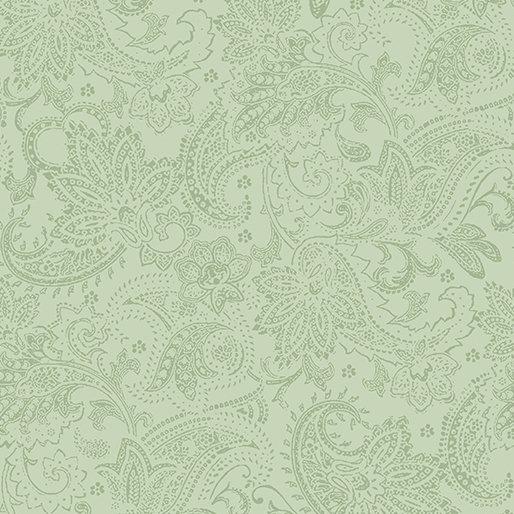 A Festive Season Tonal Paisley in Medium Green from Benartex