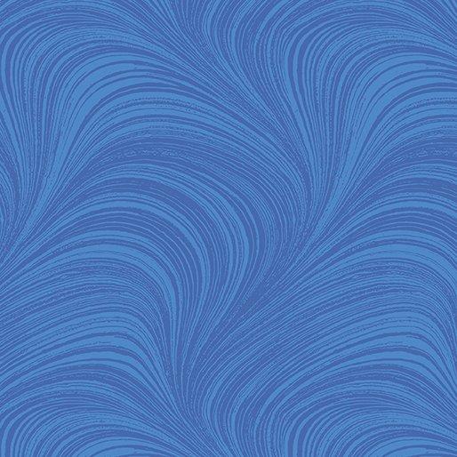Hydrangea Blue Wave Texture in Medium Blue from Benartex Fabrics
