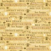 Bee Sweet Yellow Words on Honeycomb Print from Studio e