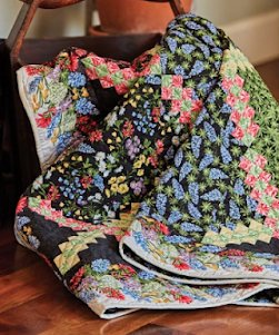 Wildflower Garden Quilt Kit featured in Fons & Porter's Love of Quilting