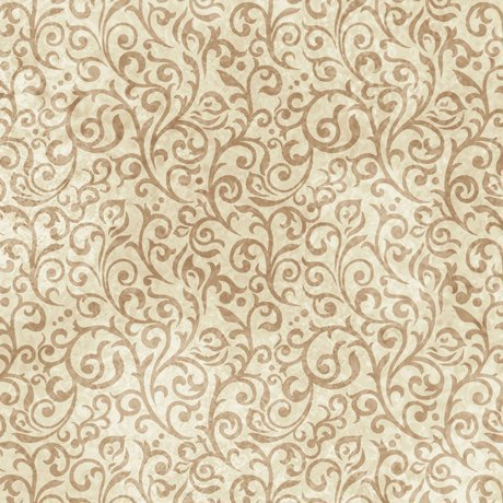 Woodland Spirit Scroll in Cream from Quilting Treasures