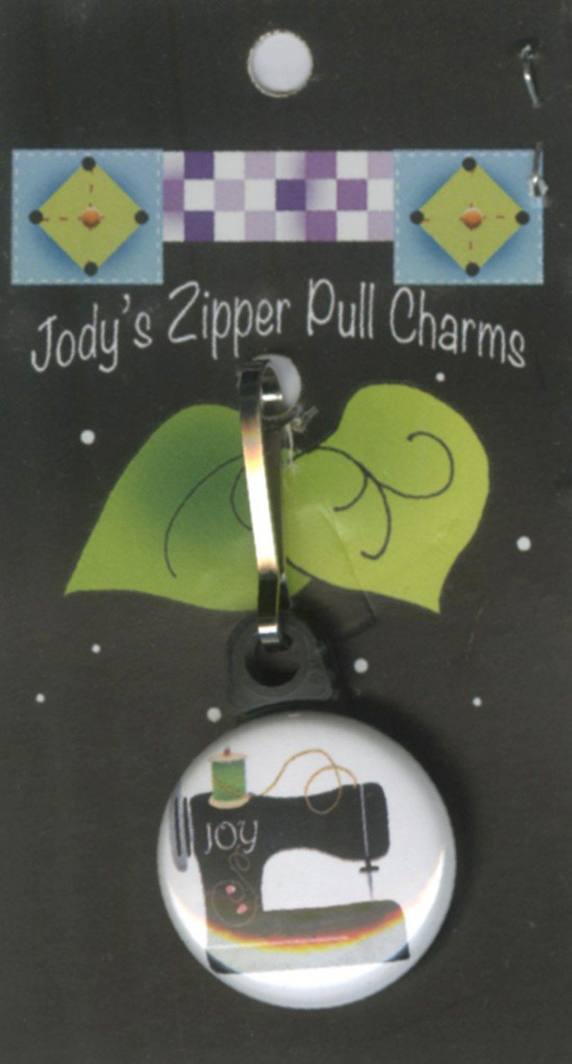 Jody's Zipper Pull Charm--Sewing Machine by Jody Houghton Designs
