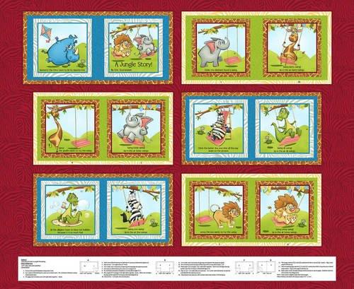 Studio E Jungle Story Book Panel 4790P-88