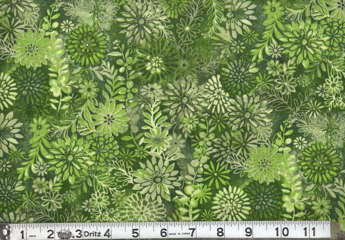 MDG Batik Print 48255-611 Green