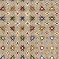 Blank Barndance-B-1080-47 Ecru Quilt Stars