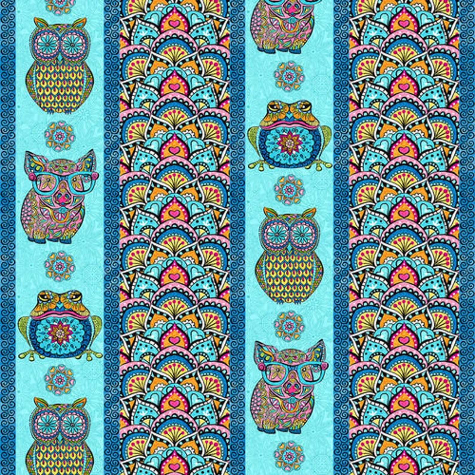 Blank Mandala Tango Stripe 9648-70 Blue