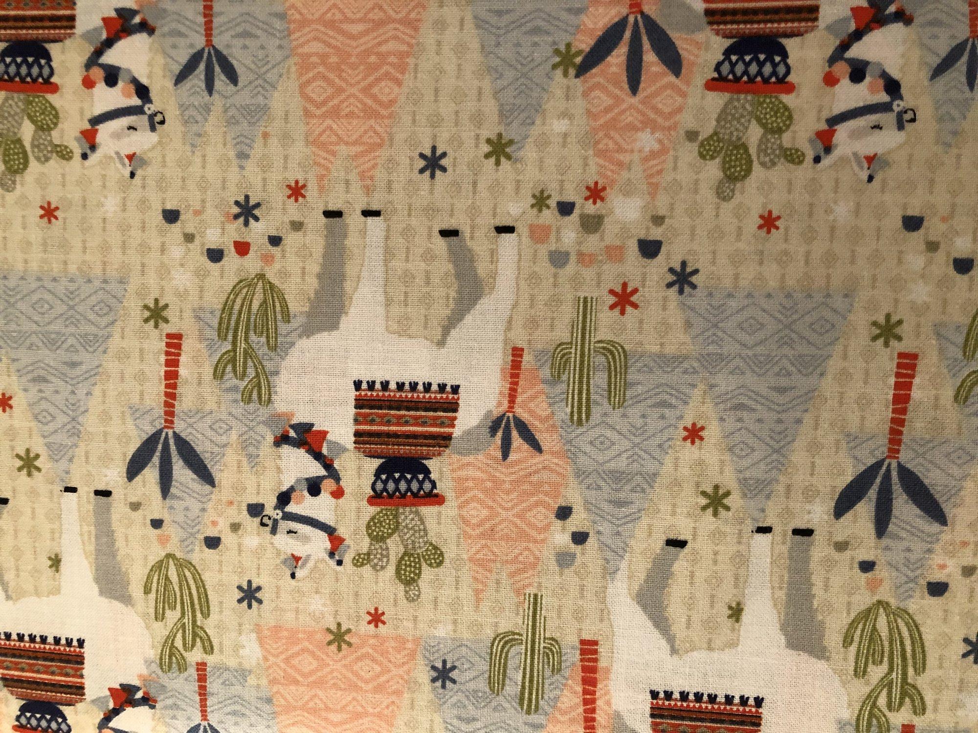 LLama, Tents and Cactus 13648-Tan     NR