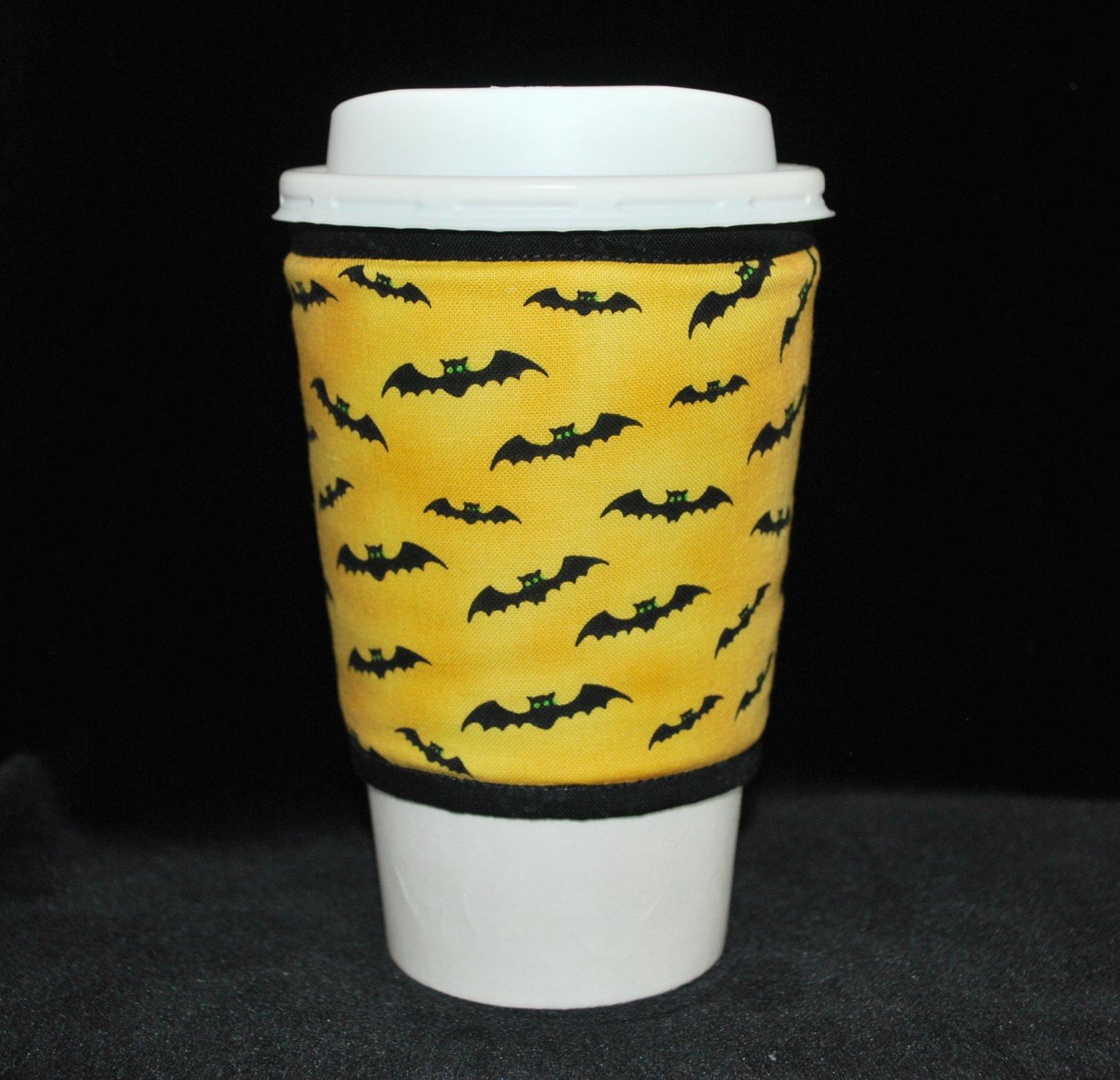 Small black bats on yellow