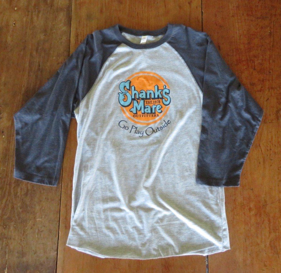 Shank's Mare Logo Baseball Shirt