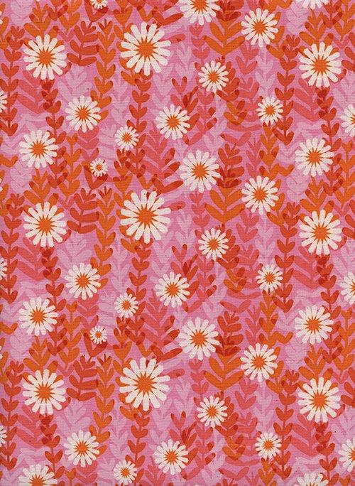 Freshly Picked-Daisies Pink - 1-YARD-CUT