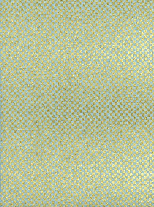 Amalfi Checkers - Mint Metallic