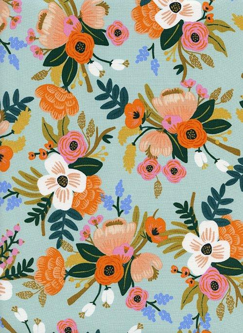 Amalfi - Lively Floral - Mint Rayon