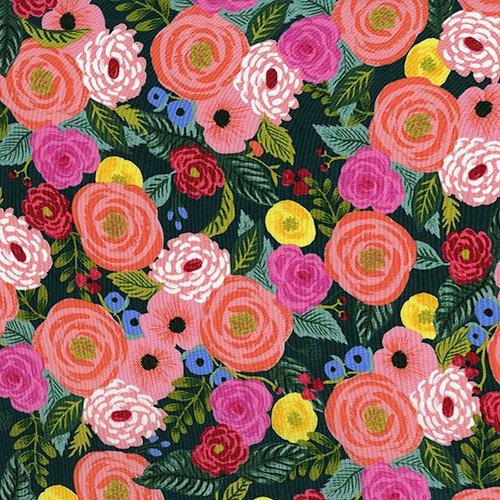 English Garden - Juliet Rose - Navy (Rayon)