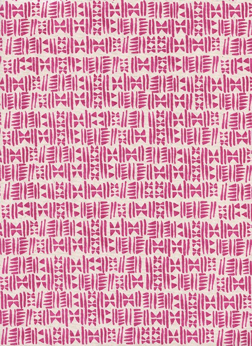 Panorama - Stamps-Hot Pink - 1-YARD-CUT