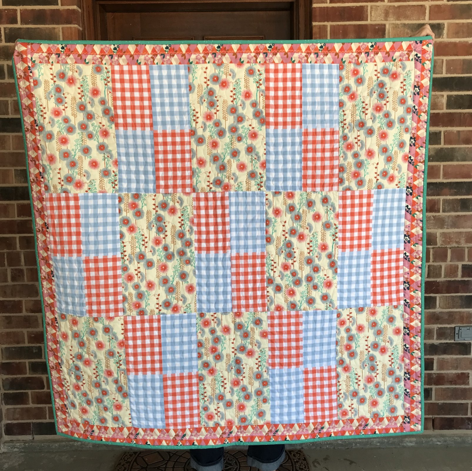 Hollyhocks Quilt Kit (includes binding; excludes backing)
