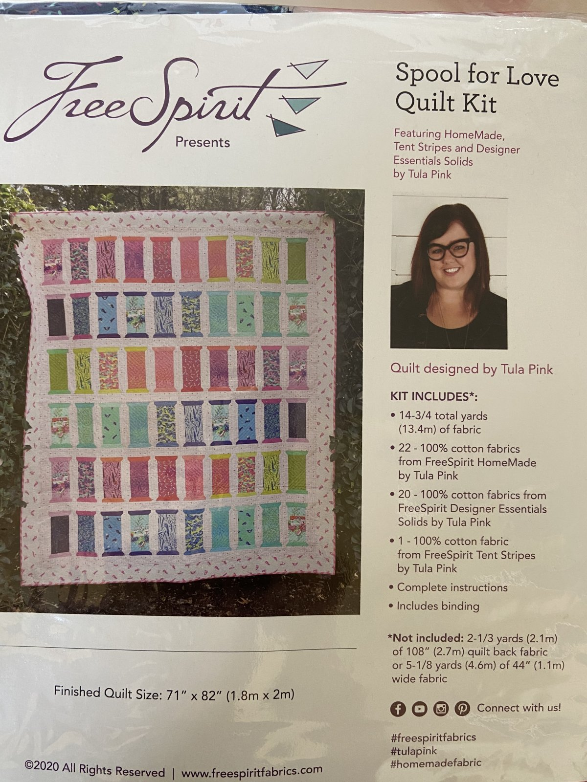Tula Pink - Spool for Love Quilt Kit