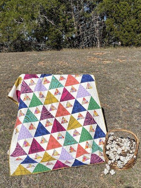 Triangle Peaks Quilt Kit