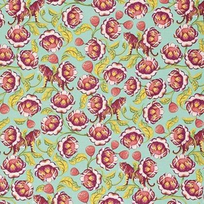 Tula Pink-Lotus-Tomato