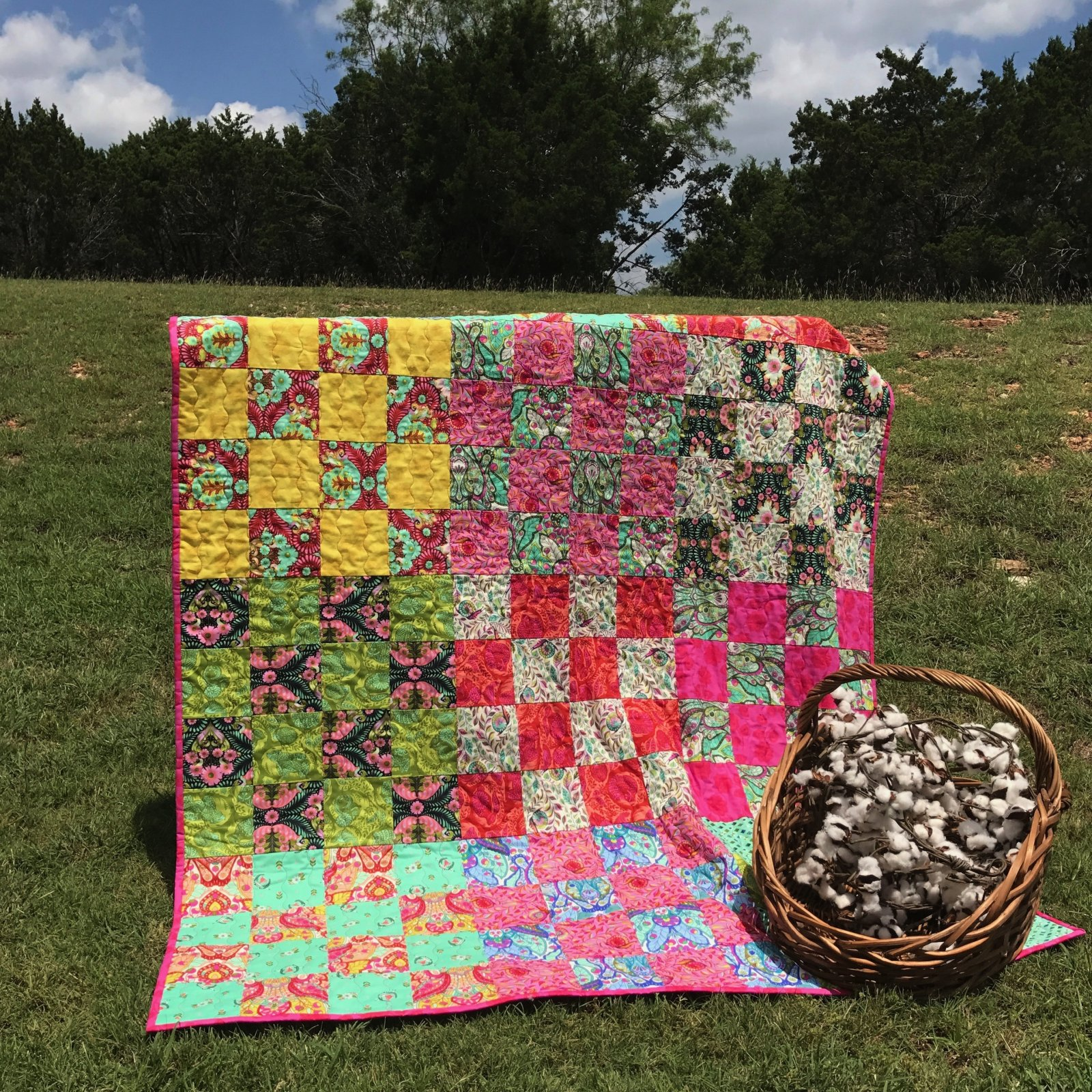 Patchwork Quilt Kit in Tula Pink (excludes Binding and Backing)