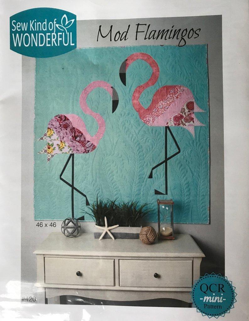 Pattern-Mod Flamingos Quilt