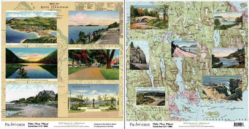 Make Mine Maine: Postcards Home paper