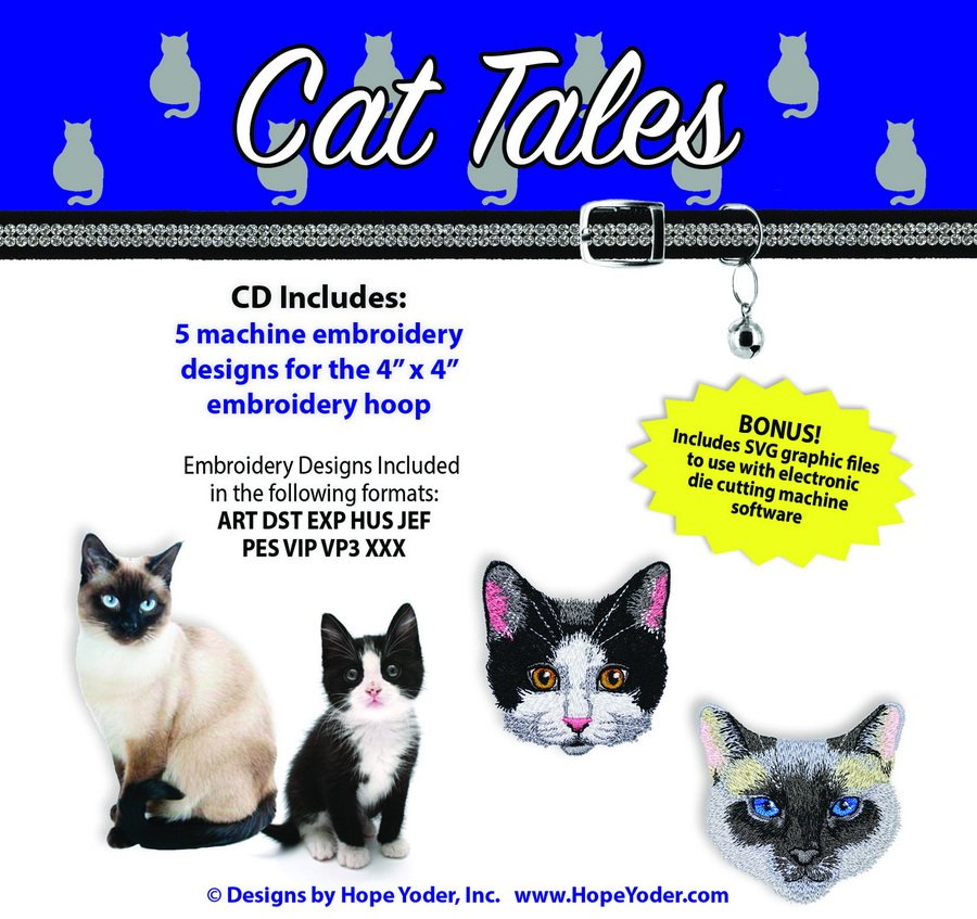 Hope Yoder Cat Tales Embroidery Collection