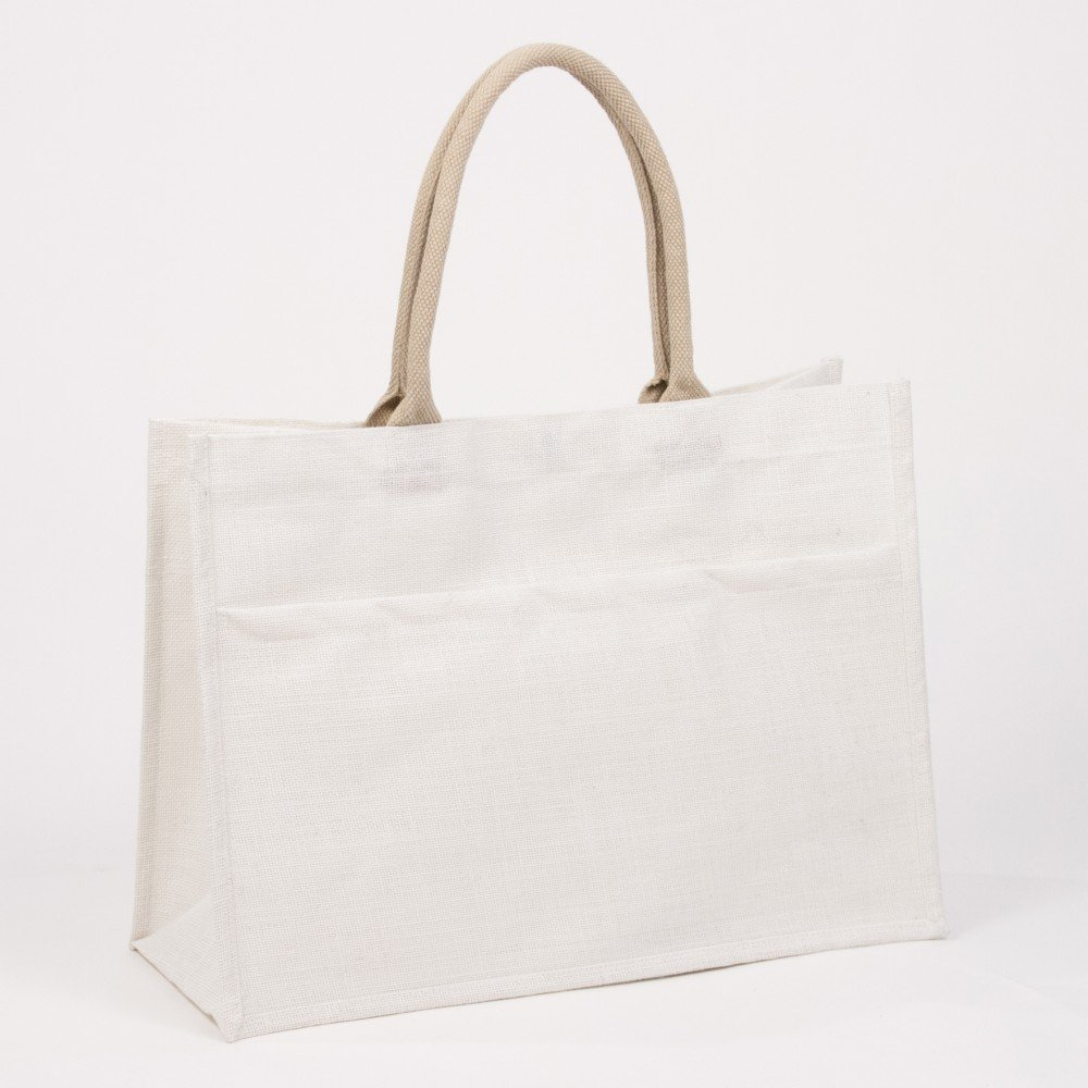 TRS Jute Pocket Tote White