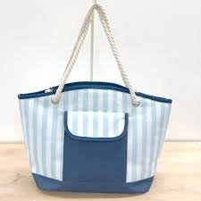 TRS Cabana Cooler Tote Blue Glass/Navy