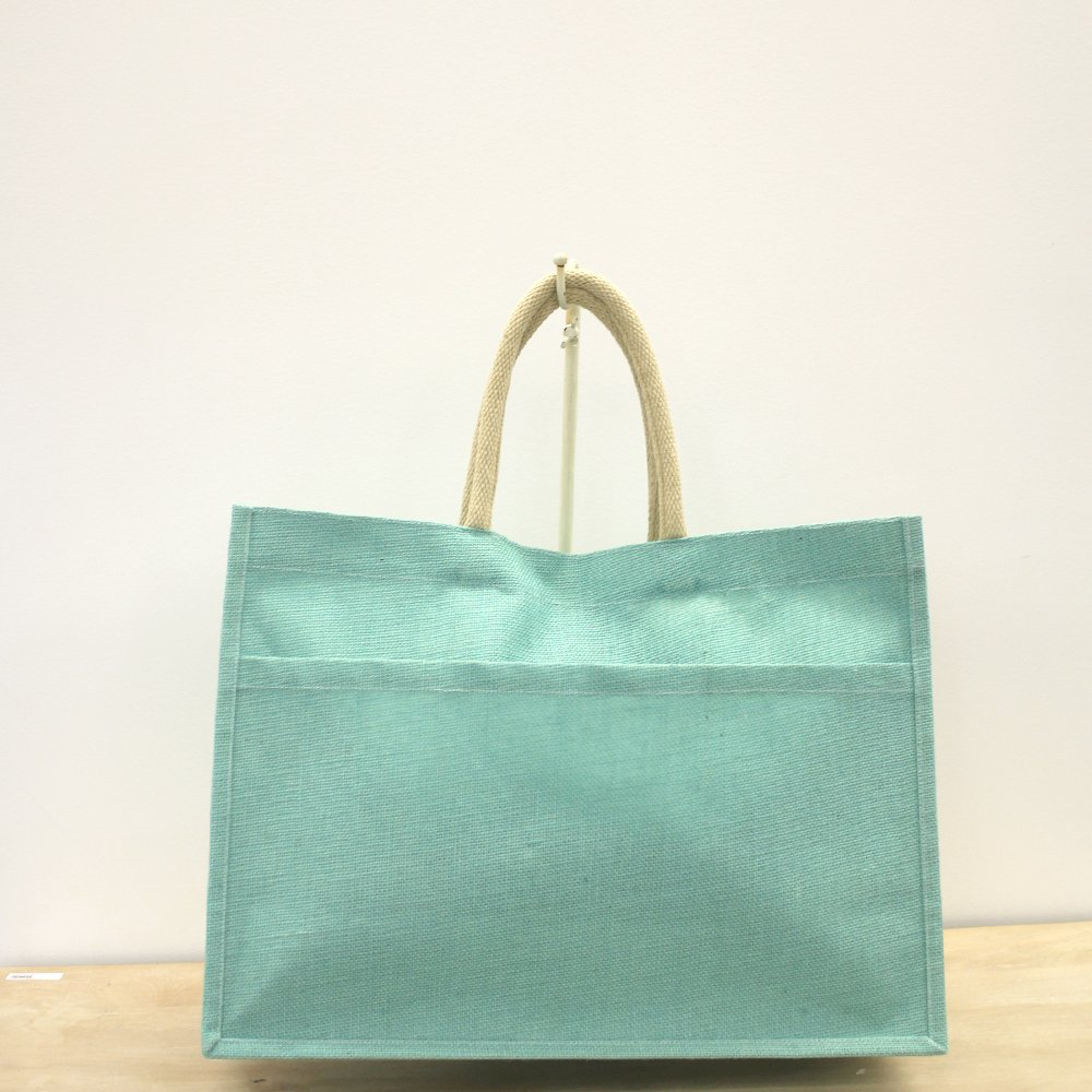 TRS Mint Jute Pocket Tote