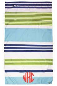 TRS Paradise Stripe Giant Beach Towel Navy/Green/Lagoon