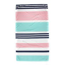 TRS Paradise Stripe Giant Beach Towel Navy/Punch/Aqua