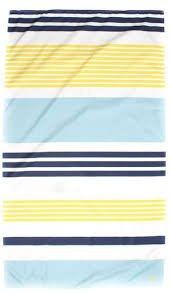 TRS Paradise Stripe Giant Beach Towel Navy/Yellow/Lagoon