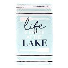 TRS Lake Giant Beach Towel Sky/Navy