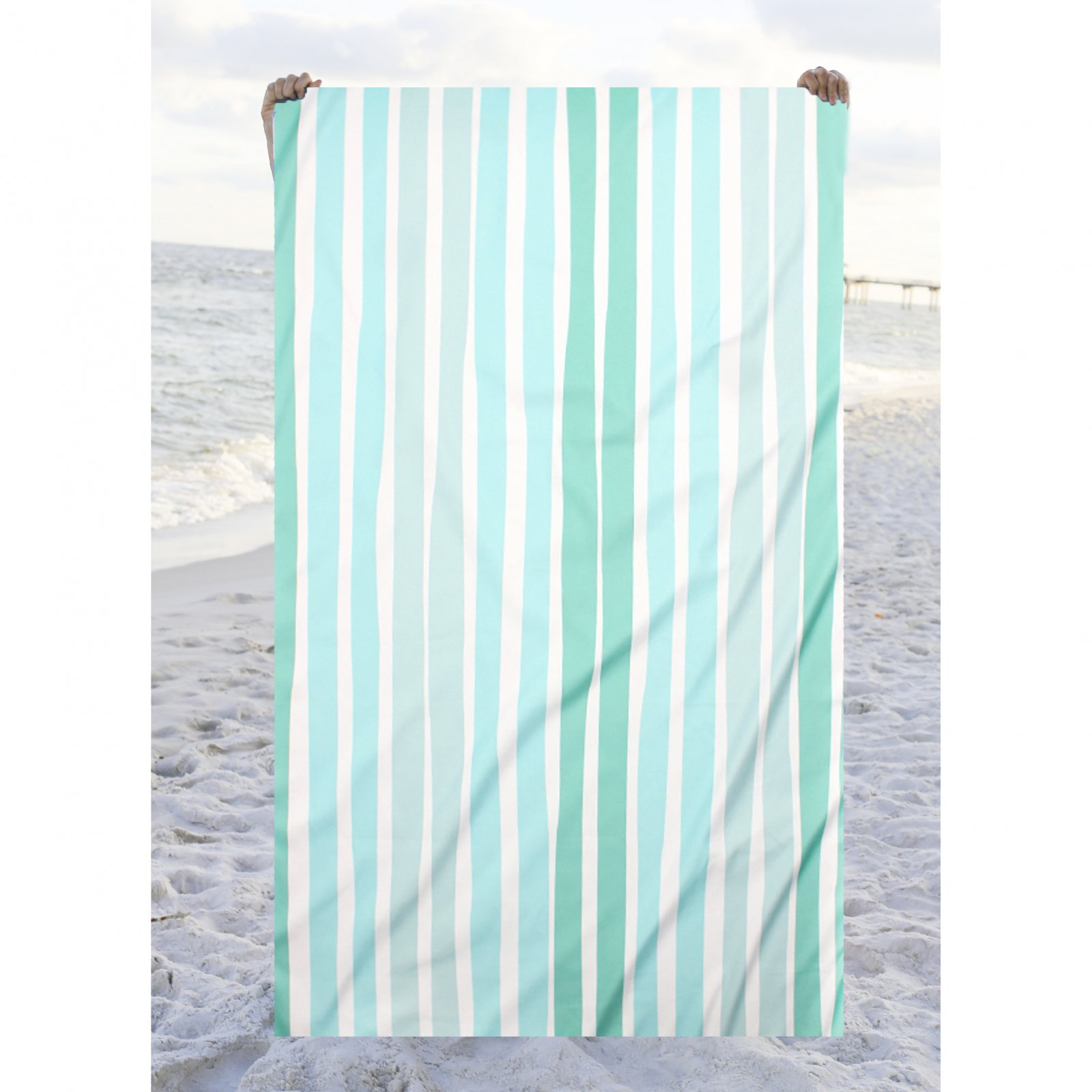 TRS Aruba Stripe Giant Beach Towel Mint/Sky/Water