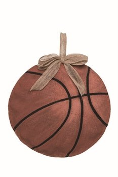 Stuffed Burlap Basketball Decor