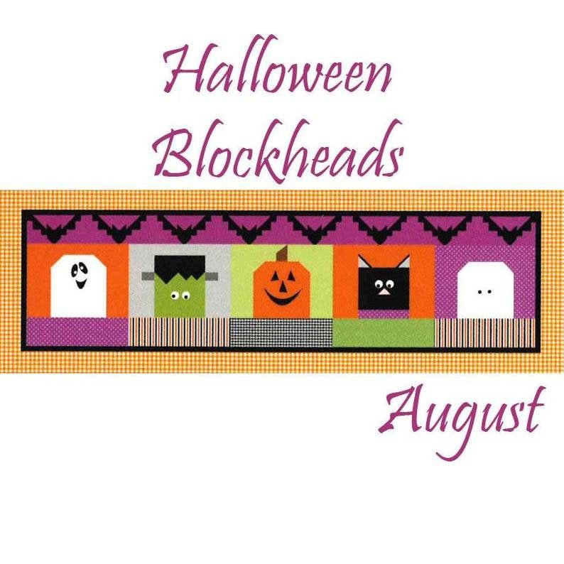 RB Table Runner of the Month August- Halloween Blockheads