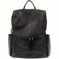JS Black Kerri Side Pocket Backpack
