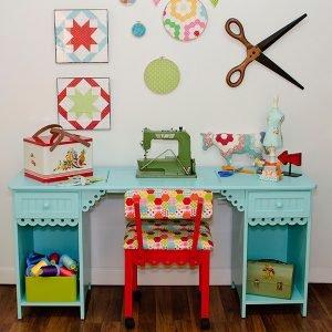 Arrow Olivia Sewing Cabinet (Tiffany Blue)
