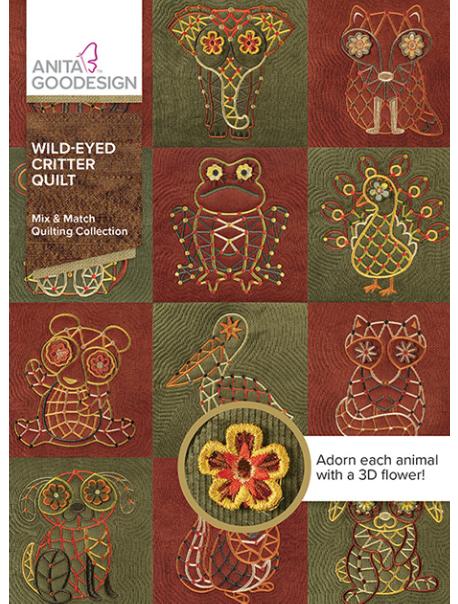 Anita Goodesign Mix&Match Wild-Eyed Critter Quilt