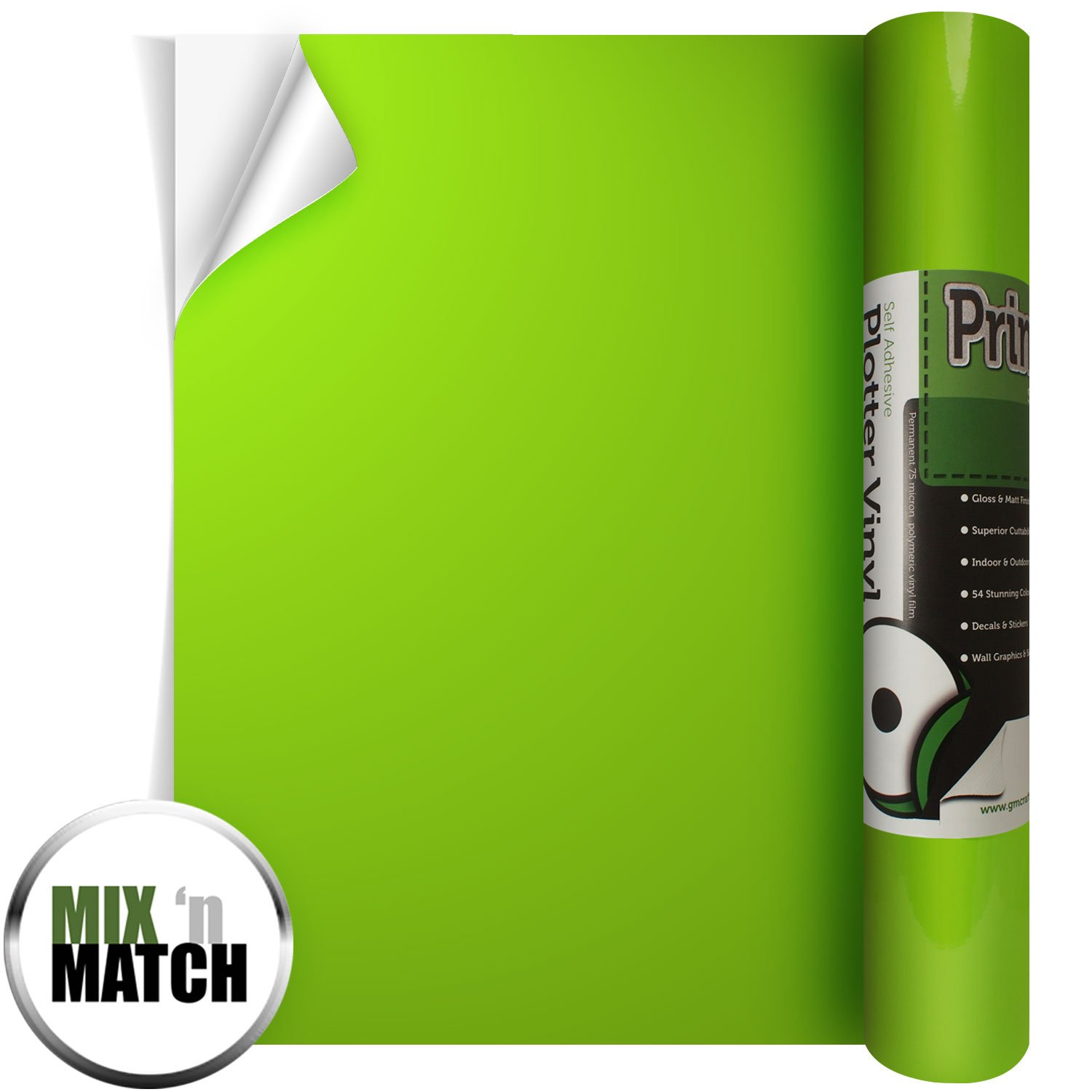 Brother Adhesive Craft Vinyl Lime Green
