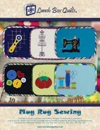 Lunch Box Mug Rug Sewing Applique Embroidery CD