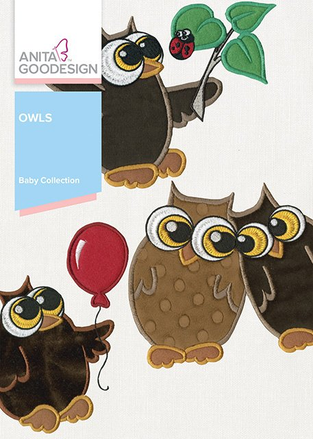 Anita Goodesign Baby Collection Baby Owls