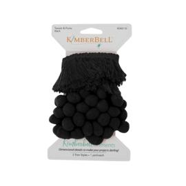 Kimberbellishments Tassel & Pom Pom Trim Black