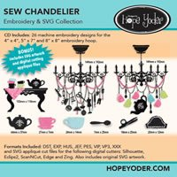 Hope Yoder Sew Chandelier Embroidery & SVG Collection