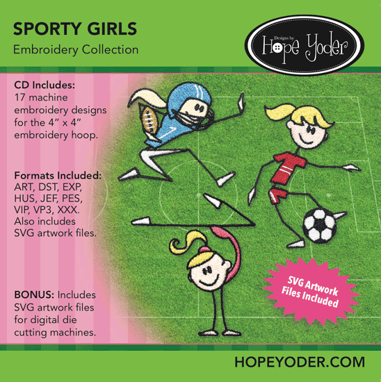 Hope Yoder Sporty Girls Embroidery Collection