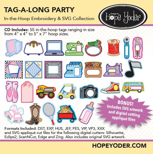 Hope Yoder Tag-A-Long Party Embroidery Collection