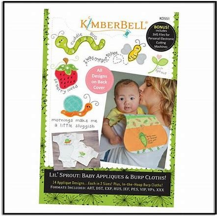 Kimberbell Lil Sprout Baby Appliques & Burp Cloths