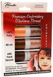 Brother Fleshtone Emb Thread 10pk